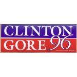 Clinton 84D - Clinton Gore 96 Bumper Sticker