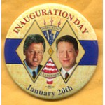 Clinton 90A  -  Inauguration Day January 20th Democratic  Leadership 97 Campaign Button