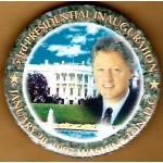 Clinton 97D - 53rd Presidential Inauguration January 20, 1997 Washington, D.C. Campaign Button