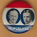 Coolidge 1G - Republican X (Calvin Coolidge Charles Dawes) Campaign Button