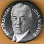 Davis 1A - For President John W. Davis Campaign Button