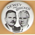 Dewey 4M - Dewey and  Bricker Campaign Button