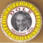 Dole 2K - Dole President 1996 Campaign Button