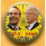 Dole 3H - Dole Kemp 1996 Campaign Button