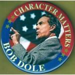 Dole 7F - Character Matters Bob Dole Campaign Button