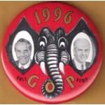 Dole 7J - 1996 GOP Dole  Kemp Campaign Button