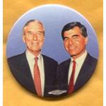 Dukakis 25A - Dukakis Bentsen 1988 Campaign Button