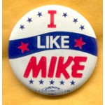 Dukakis 35A - I Like Mike Campaign Button
