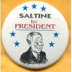 Fantasy 11A - Saltine for President Campaign Button