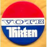 Fantasy 2A - Vote Thirteen Campaign Button