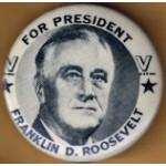 FDR 9C - For President Franklin D. Roosevelt Campaign Button