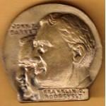 FDR 14G - Franklin D. Roosevelt John N. Garner Brass Pinback