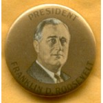FDR 1F - President Franklin D. Roosevelt Campaign Button