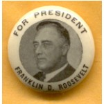 FDR 2F - For President Franklin D. Roosevelt Campaign Button