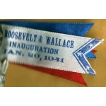 FDR 2M - Roosevelt & Wallace Inauguration Jan. 20 , 1941 Campaign Button & Ribbon