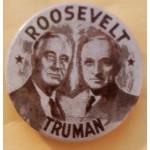FDR 9E - Roosevelt Truman Campaign Button