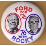 Ford 20M - Ford For '76 '76 With Rocky Campaign Button