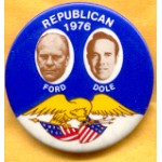 Ford 6F - Republican 1976 Ford Dole Campaign Button