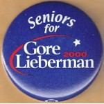 Gore 14B - Seniors for Gore Lieberman 2000 Campaign Button
