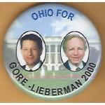 Gore 14K - Ohio For Gore - Lieberman 2000 Campaign Button