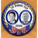 Gore 15 - President Al Gore Vice President Bob Graham 2000 Campaign Button