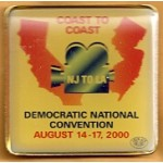 Gore 31D - Coast to Coast Democratic National Convention 2000 Lapel Pin