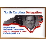 G. W. Bush 10F  - North Carolina Delegation Republican National Convention 2000 (George W. Bush) Campaign Button
