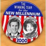 G.W. Bush 26 - President George Bush Elizabeth Dole Vice President Campaign Button