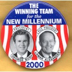 G.W. Bush 32 - The Winning Team for the New Millennium President George Bush  Lamar Alexander Vice President Campaign Button