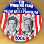 G.W. Bush 35 - The Winning Team for the New Millennium President George Bush  George Patakai Vice President Campaign Button