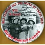 GW Bush 40D - Bush Cheney 2000 Campaign Button