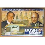 G.W. Bush 7M - 2000 Republican National Convention Bush Cheney Campaign Button