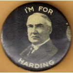 Harding 2G - I'm For Harding Campaign Button