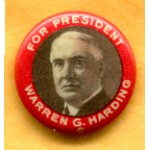 Harding 4C - For President Warren G. Harding Campaign Button