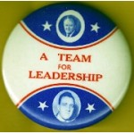 HHH 17A - A Team For Leadership  (Humphrey Muskie) Campaign Button