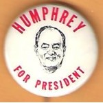 HHH 19B - Humphrey For President Campaign Button