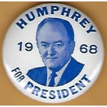 HHH 4P -  Humphrey For President  1968  Campaign Button