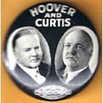 Hoover 7A - Hoover Curtis Campaign Button