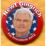 Hopeful 43E - Newt Gingrich  President 2012 Campaign Button