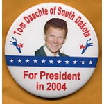 Hopeful 23A - Tom Daschle of South Dakota For President in 2004 Campaign Button