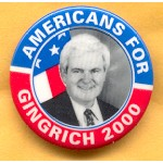 Hopeful 46C - Americans For Gingrich 2000 Campaign Button