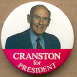 Hopeful 15D - Cranston For President Campaign Button