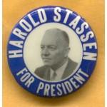 Hopeful 15E - Harold Stassen For President Campaign Button