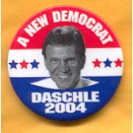 Hopeful 22B - A New Democrat Daschle 2004 Campaign Button