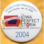 Hopeful 25E - Dean For President Iowa Caucus Jan. 19, 2004 Campaign Button