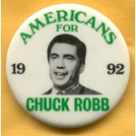 Hopeful 29D - American For Chuck Robb 1992 Campaign Button