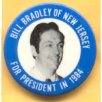 Hopeful 47B - Bill Bradley Of New Jersey For President In 1984 Campaign Button