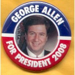 Hopeful 70B - George Allen For President 2008 Campaign Button