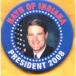 Hopeful 71B - Bayh of Indiana President 2008 Campaign Button