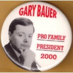 Hopeful 90H - Gary Bauer Pro Family President 2000 Campaign Button